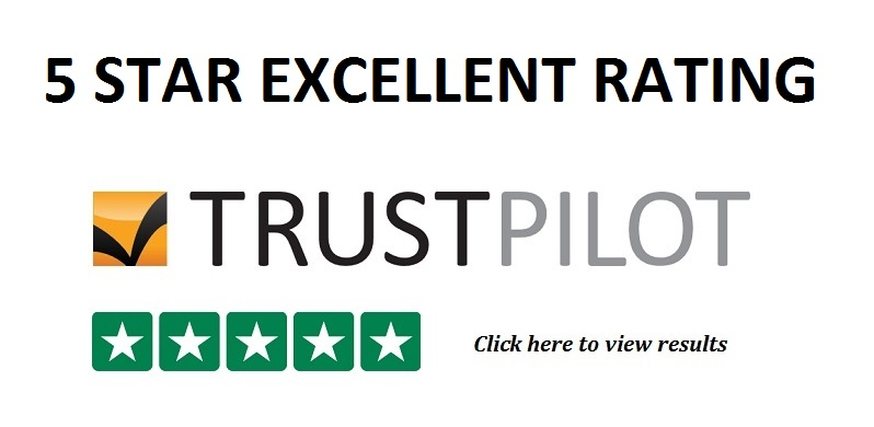 5 Star Excellent Rating at TrustPilot.com